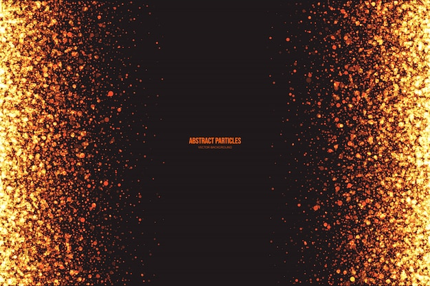 Abstract glowing round particles vector background
