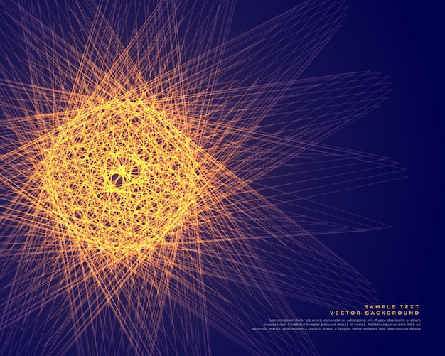 Abstract glowing sphere made with lines background