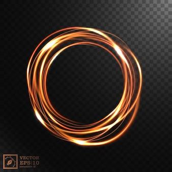 抽象的な輝く渦巻き、エレガントな金の渦巻き。