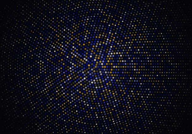 Абстрактный фон с золотыми и синими частицами