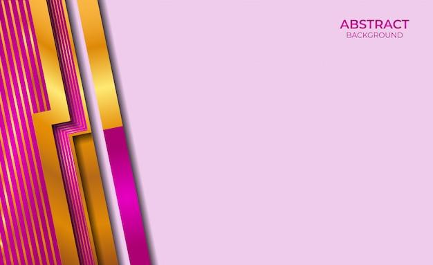 Абстрактный золотой и фиолетовый фон