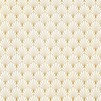 Abstract gold art deco pattern luxury design background.