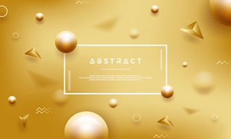 Abstract gold background with beautiful golden pearls.