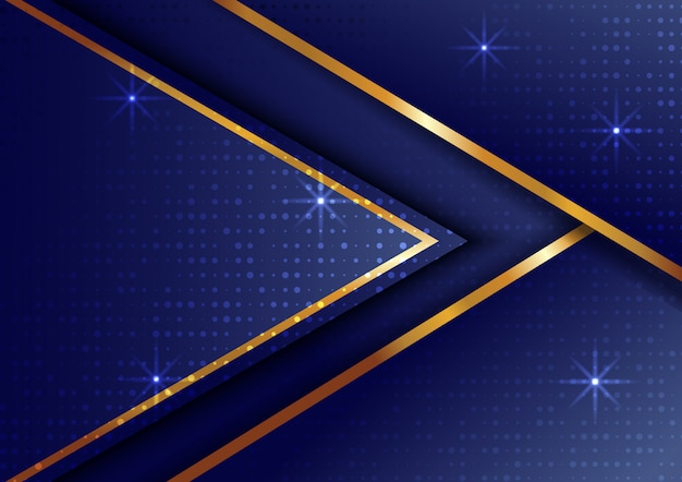 Abstract gold background with starlight