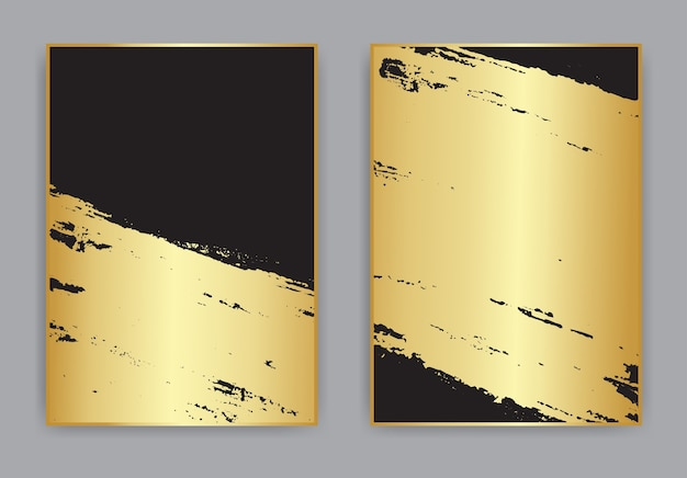 Abstract gold and black grunge background