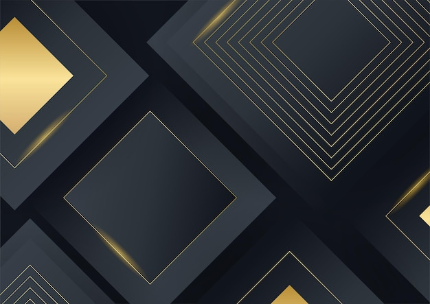 Abstract gold on black metallic texture with simple text design modern luxury futuristic background vector illustration