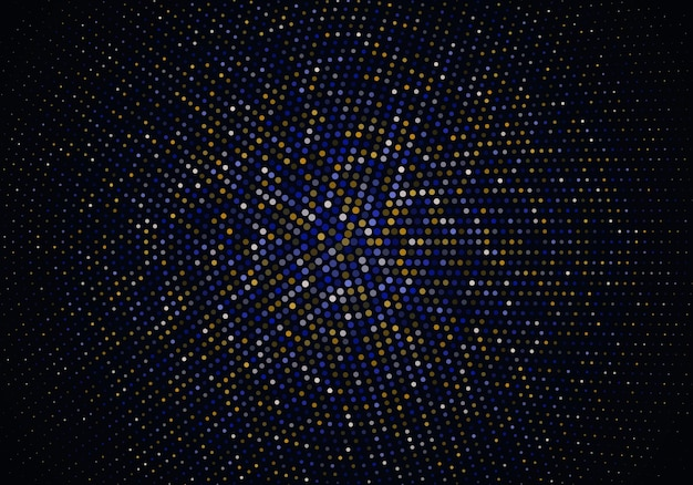 Abstract gold and blue particles background