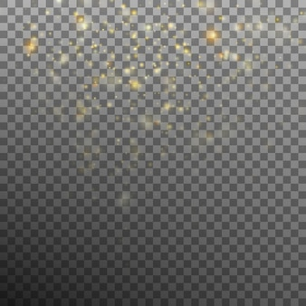 Abstract gold bokeh background.