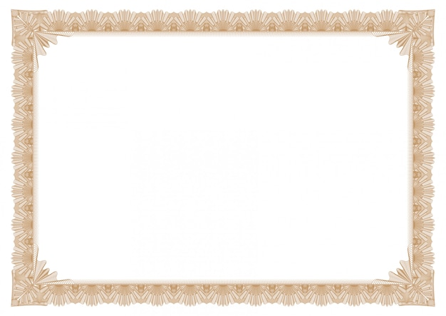 Abstract gold border for certificate or picture frame