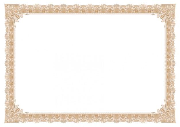 証明書または画像フレームの抽象的な金枠
