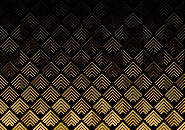 Abstract gold chevron lines pattern background