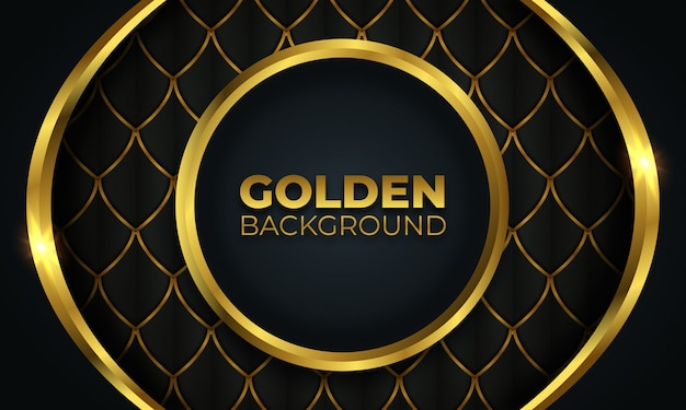 Abstract gold circle shape on dark background