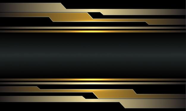 抽象的なゴールド回路サイバーダークグレーメタリック高級未来技術の背景。