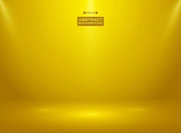 Abstract of gold color color in studio room background