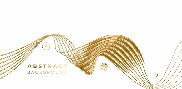 Abstract gold color wave line pattern design and background. use for modern design, cover, poster, template, brochure, decorated, flyer, banner.