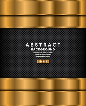Abstract gold on dark grey circle background