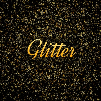 Abstract Gold glitters shiny background