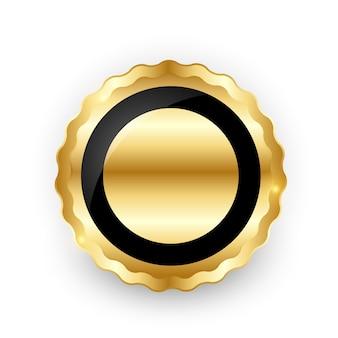 白の抽象的なゴールドラベルテンプレート