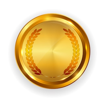 抽象的なゴールドラベルテンプレート