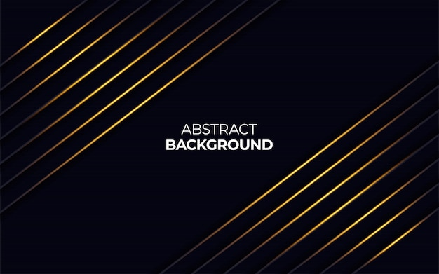 Abstract gold light line on dark background