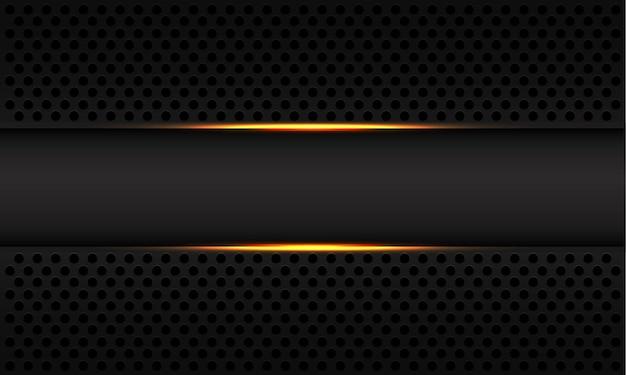 금속 원형 메쉬 배경에 추상 골드 라이트 라인