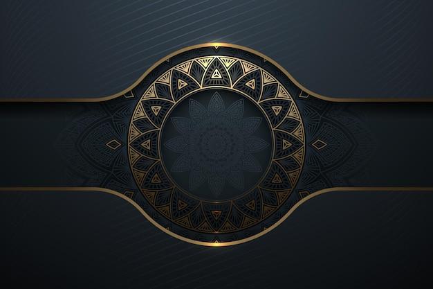 抽象的な金の豪華なパターンの背景