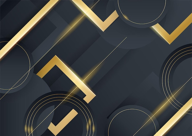 간단한 텍스트 디자인 현대 럭셔리 미래 배경 벡터 일러스트와 함께 검은 금속 질감에 추상 금