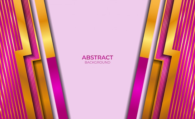 Abstract gold and purple design