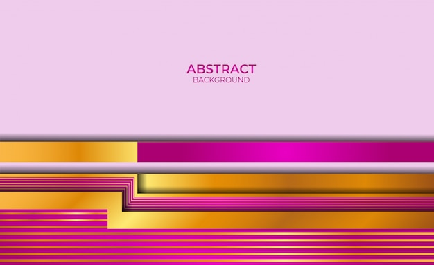 Abstract gold and purple style