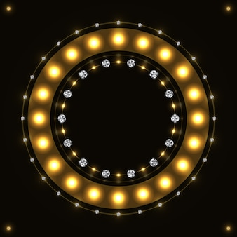 Abstract gold round circle