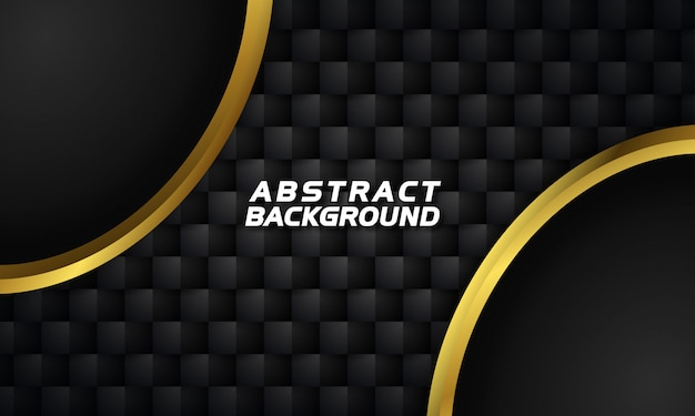 Abstract gold shape on dark background