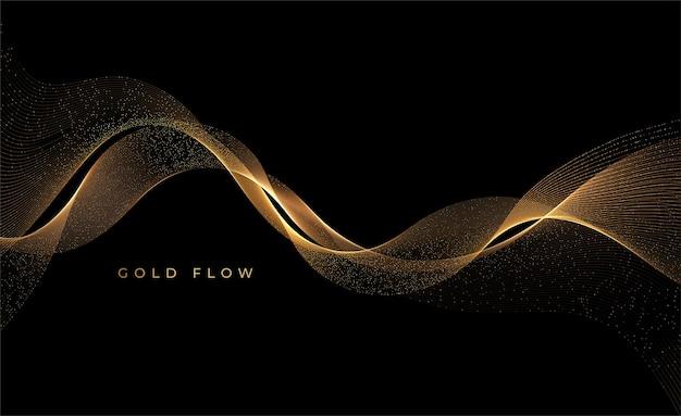 抽象的な金の煙の波