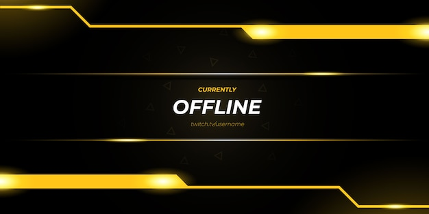 Abstract gold twitch offline gaming background