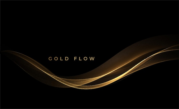 抽象的な金の波