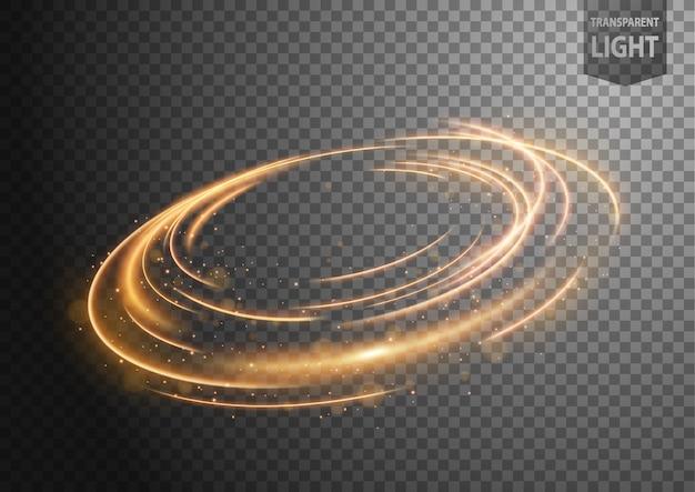 光の抽象的な金の風の線