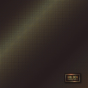 Abstract golden background. halftone effect with luxury dotted design.