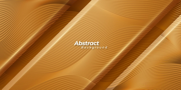 Abstract golden background with textured lines.
