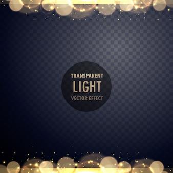 輝きを持つ抽象的な金色のボケの光の効果
