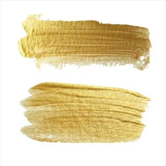 Абстрактная золотая кисть мазки текстуры. ручной работы