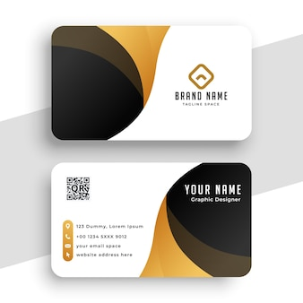 Abstract golden business card template
