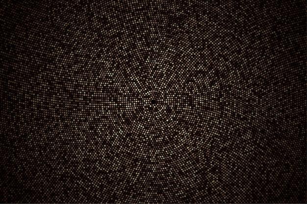 센터 작품 배경의 추상적 인 황금 점 미래 패턴