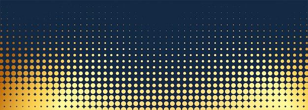 抽象的な黄金の点線のバナーの背景
