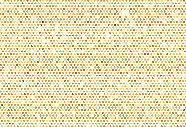 抽象的なゴールデンドットパターン背景