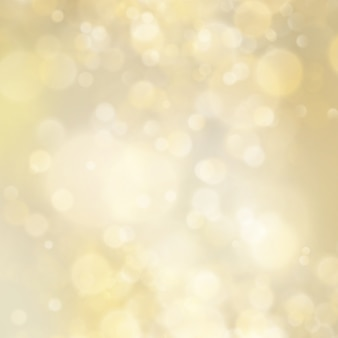 Abstract golden glitter defocused bokeh background. christmas template. holiday lights.