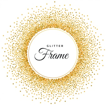 Abstract golden glitter frame background