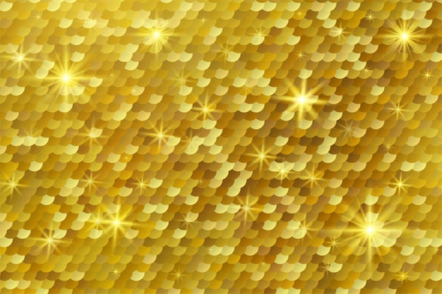 Abstract golden glittering light background