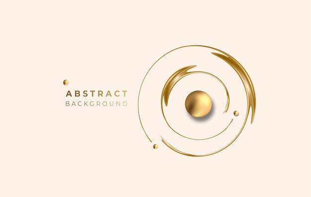 Абстрактный золотой светящийся блестящий круг линии эффект вектор фон. используйте для современного дизайна, обложки, плаката, шаблона, брошюры, украшенного, флаера, баннера.