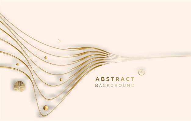 Абстрактный золотой светящийся блестящий круг линии эффект векторный фон. используйте для современного дизайна, обложки, плаката, шаблона, брошюры, украшенного, флаера, баннера.
