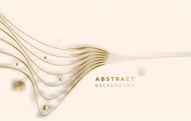 Abstract golden glowing shiny circle lines effect vector background. use for modern design, cover, poster, template, brochure, decorated, flyer, banner.