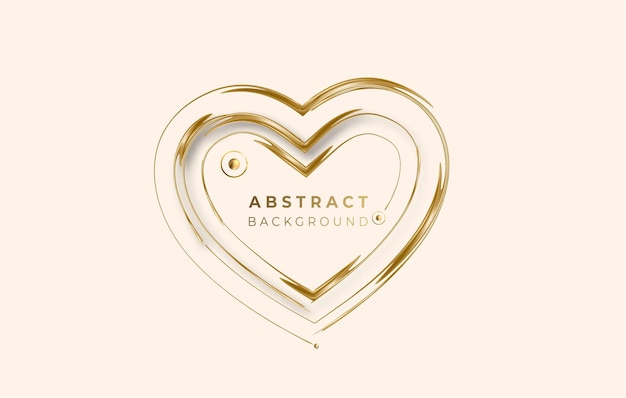 Abstract golden glowing shiny heart frame vector background. use for modern design, cover, poster, template, brochure, decorated, flyer, banner.